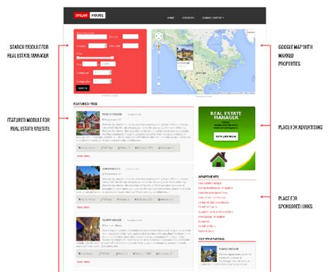 dream house free real estate joomla template ordasoft