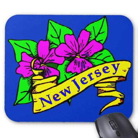 state flower of new jersey new jersey state flower mouse pad zazzle