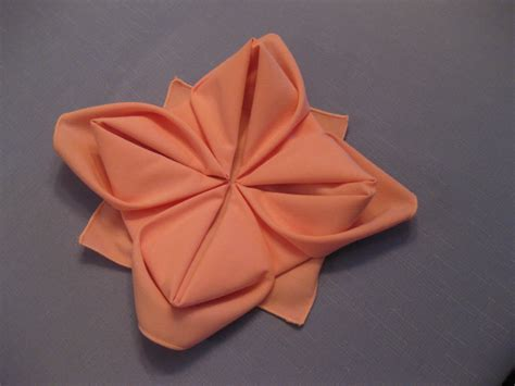 Origami Flower Napkin - napkin folding on napkins tree