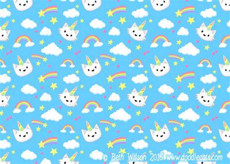 wallpaper cat unicorn unicorn cats free phone wallpaper doodlecats