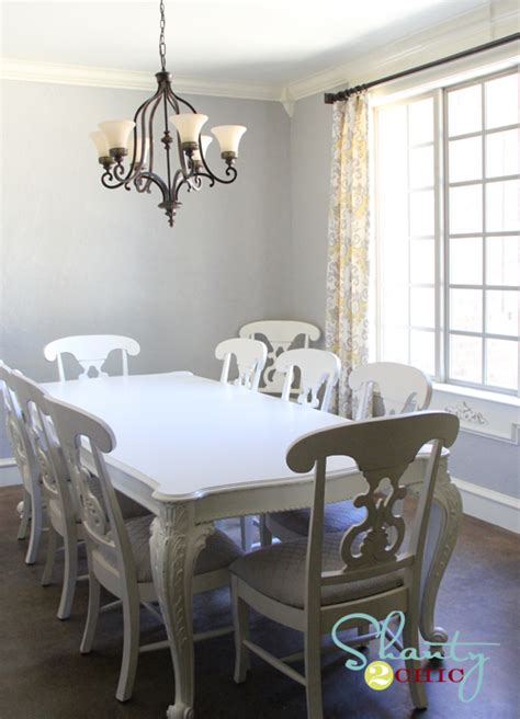 Grey Painted Dining Room Furniture Redoing The Dining Chairs Shanty 2 Chic
