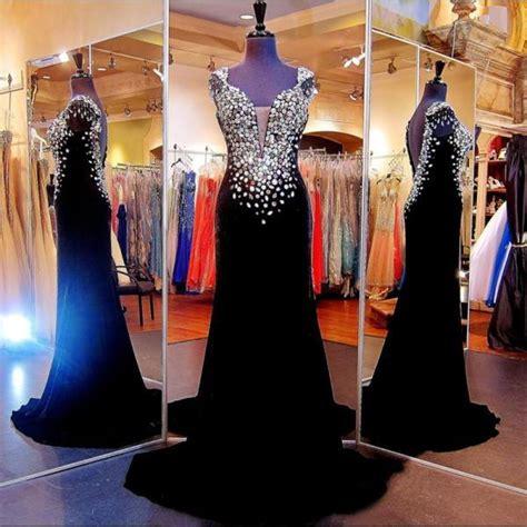 45624 Dress Square Murah 2017 custom made high quality prom dress black beading prom dress beading prom dress