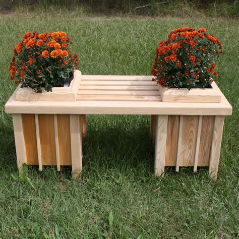 planter seat bench short cypress planter bench seat dfohome