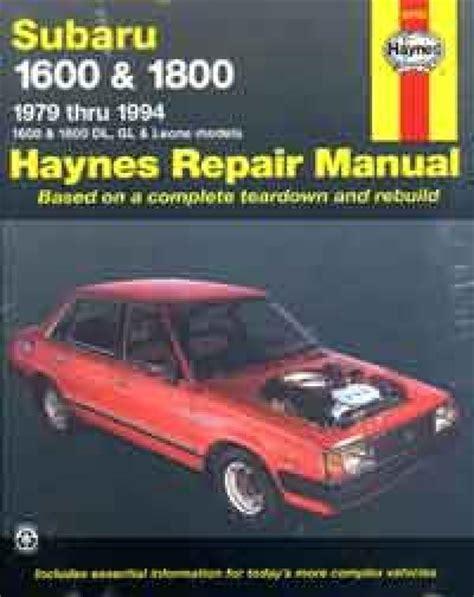 book repair manual 1985 subaru leone user handbook subaru 1600 1800 1979 1994 haynes service repair manual sagin workshop car manuals repair