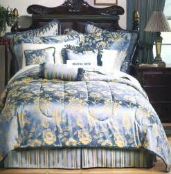 Blue And Gold Comforter by New Blue Gold Bedding Comforter Set 600t Sheets Ebay