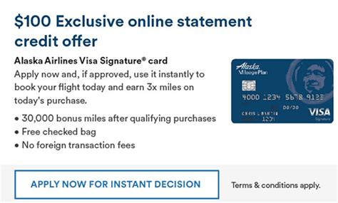 3 Sle Credit Card Offers Bank Of America Alaska Airlines 30 000 100 Statement Credit Offer Doctor Of Credit