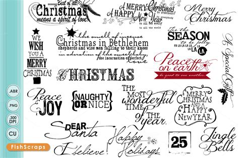 christmas wordart titles quotes brushes on creative