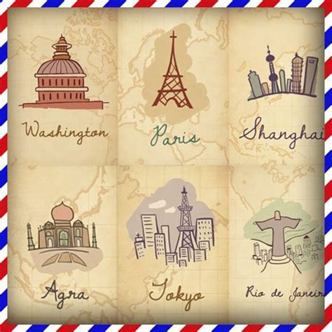 printable postcards from around the world free shipping around the world colorful romantic