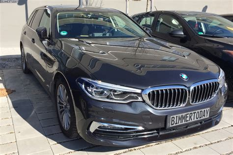 exotic cars lined real life photos of the 2017 bmw 5 series touring