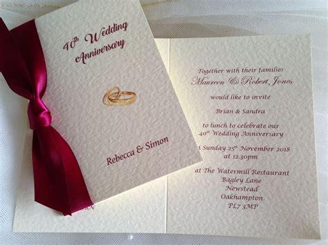 25th Wedding Anniversary Invitations Uk