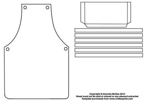 apron shaped card template apron template cup43642 56 craftsuprint