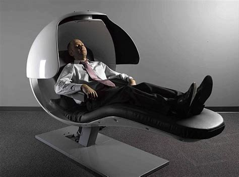 google chair bizarre energy pod that keeps googlers refreshed