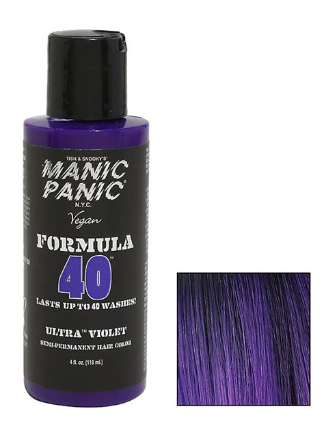 manic panic ultra violet hair dye hot topic manic panic formula 40 ultra violet semi permanent hair