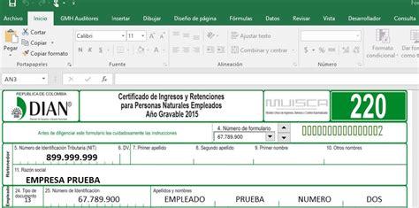 formato de certificado de ingresos y retenciones 2016 en colombia excel certificado de ingresos y retenciones dian