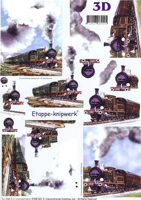 steam trains  decoupage craft sheet