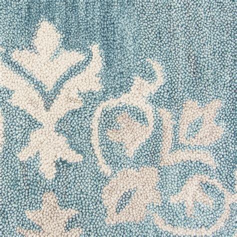 aqua blue area rugs floral motif medallion wool area rug in aqua blue