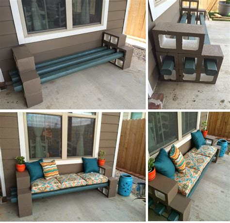 how to build a bench out of cinder blocks the pry posse diy cinder block bench front garden