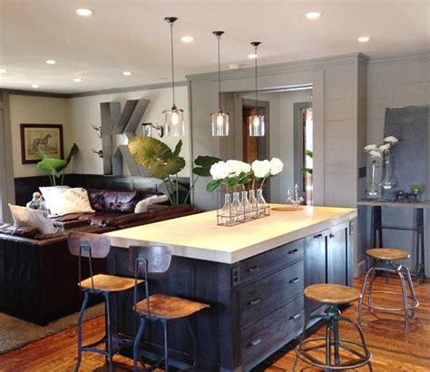 houzz com kitchen islands keegan kitchen family room contemporary kitchen