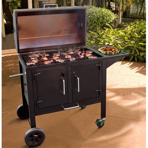 grilling dogs black 28 quot grill from landmann 231712 grills smokers at sportsman s guide