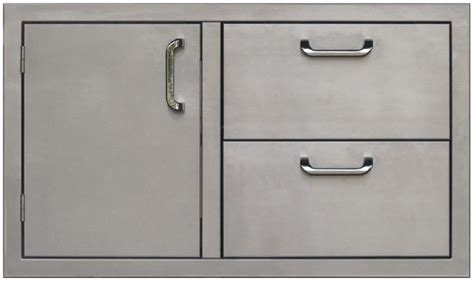 Bbq Doors And Drawers by Pcm Bbq Island 36 226 Door And Drawer Combo Unit Stainless Steel