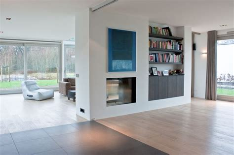 modern interieur met houten vloer vloeren project gerealiseerd in tilburg nieuwbouw villa