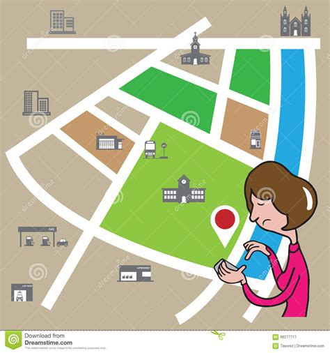 Search By Location On Smartphone Search Location Stock Vector Image 66277717