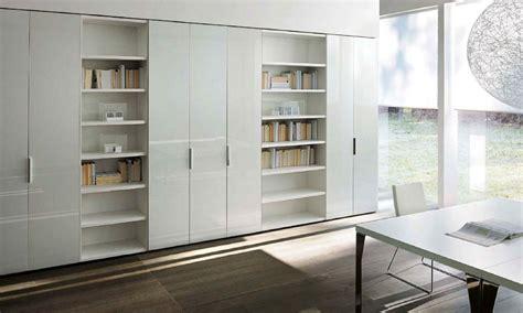 armadio con libreria line armadio di sangiacomo in laccato lucido
