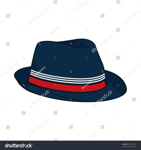 fedora hat template fedora hat vector template 252059581