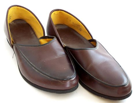 mens house shoes vintage mens house slippers ala father knows best