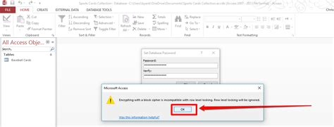 reset vba password access how to set a database password for an access 2013 database
