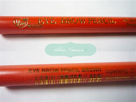 Pensil Alis Inez Warna Coklat viva eye brow pencil brown silver treasure on