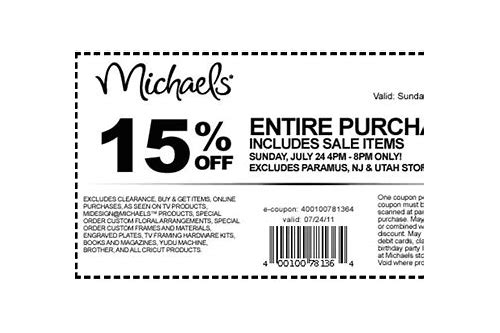 michaels art supply coupon