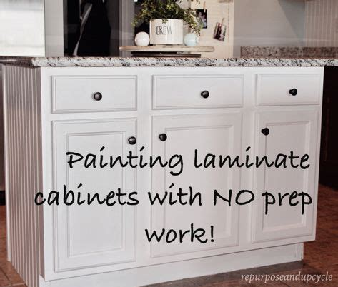 can laminate kitchen cabinets be painted 1000 ideas about redo laminate cabinets on pinterest