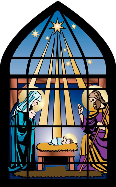 christmas glass clip art devotional describing the unique