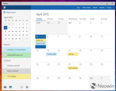 windows 10 10051 a closer look at the new calendar app