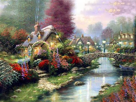 Kinkade Cottage Collection by Free Kinkade Wallpapers For Desktop Wallpaper Cave