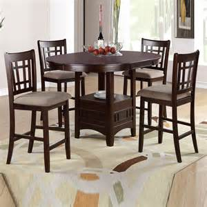 Solid Oak Nightstands 5 Pcs Rosy Brown Leaf Round Table Cushion Seat Chair