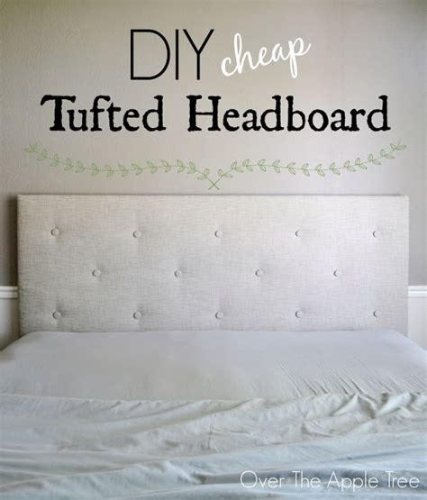 diy styrofoam headboard the apple tree diy cheap tufted headboard