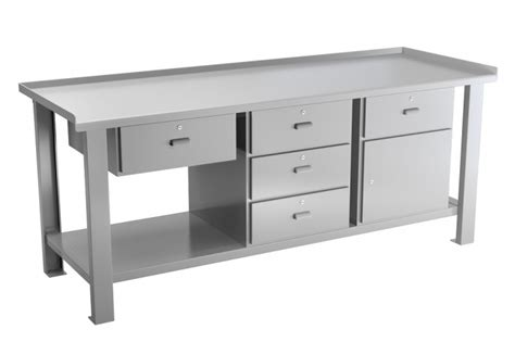 Steel Workbenches With Drawers by Steel Workbench With Three Drawer Unit