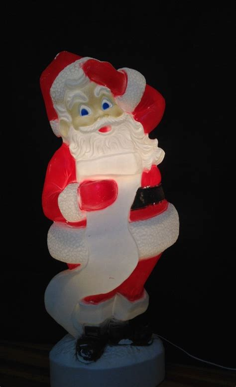 outdoor light up santa extra large 43 quot tall santa claus lighted plastic blow