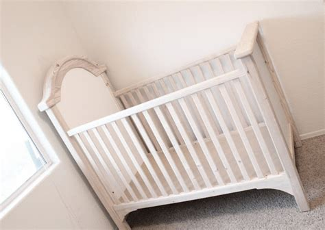 Distressed Crib Using Candle Wax Lolly Jane Distressed Baby Cribs