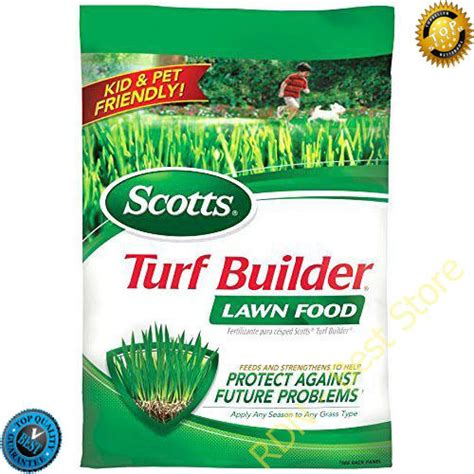lawn fertilizer weed  feed turf builder  sq ft