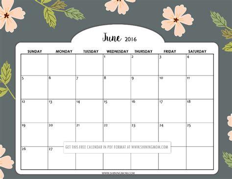 june 2016 calendar printable org pretty printable calendars for june
