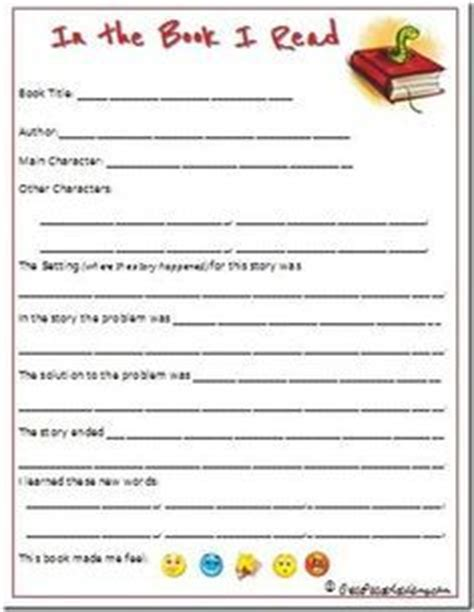 3rd grade book review template the world s catalog of ideas