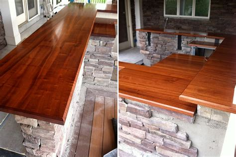 Wood Bar Top by Outdoor Mahogany Bar Top Maryland Wood Countertops