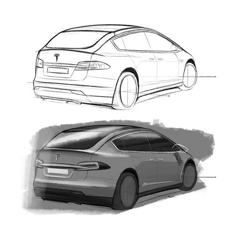 Tesla Model X Sketches by 2016 Tesla Model C City Car Design Sketches Carwow