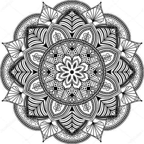 imagenes de mandalas y zendalas mandala zentangle inspir 243 ilustraci 243 n blanco y negro