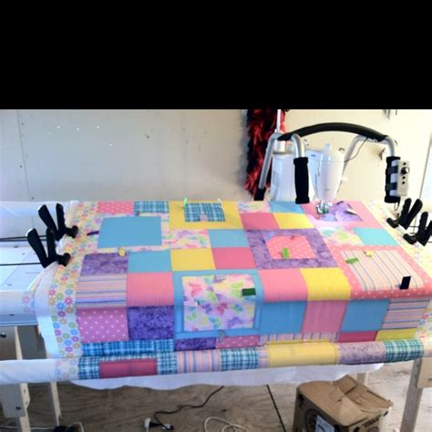 quilting frame and machine quilting frame