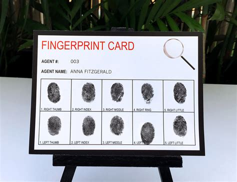 Fingerprint Card Template by Secret Birthday Invitations Ideas