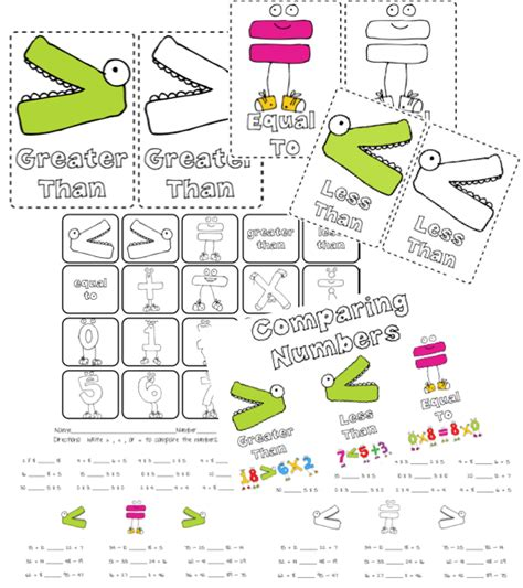 printable comparing numbers games cut and paste comparing numbers worksheets cut paste